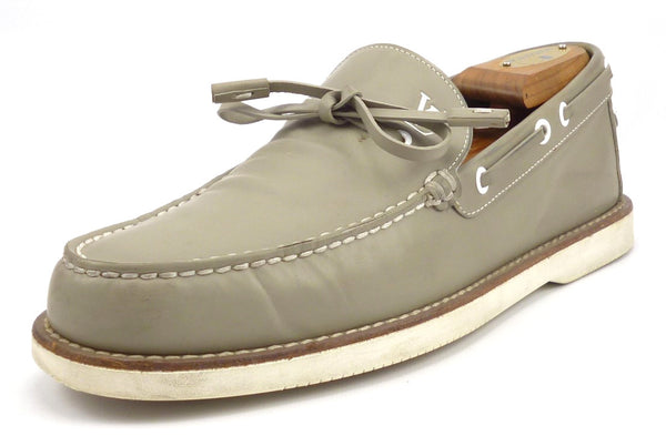 Louis Vuitton Men's Shoes Size 6, 7 US Yucatan Leather Boat Shoes Gray Pre-owned