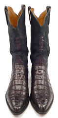 Lucchese Men's Alligator Cowboy Boots Size 10.5 Black
