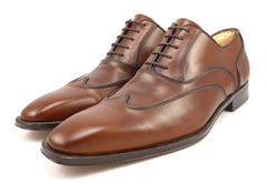 Magnanni Mens Shoes Size 11 Leather Wingtip Lace Up Oxfords Brown