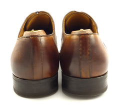 Magnanni Mens Shoes Size 9.5 US Roman Leather Cap Toe Oxfords Brown