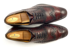 Magnanni Mens Shoes Size 7 Leather Wingtip Oxfords Burgundy
