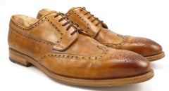 Magnanni Men's Shoes Size 12 Roda Leather Wingtip Oxfords Brown
