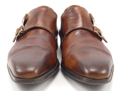 Magnanni Men's Monk Strap Shoes Size 9.5 US Brown