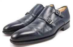 Magnanni Men's Monk Strap Shoes Size 9 US Blue