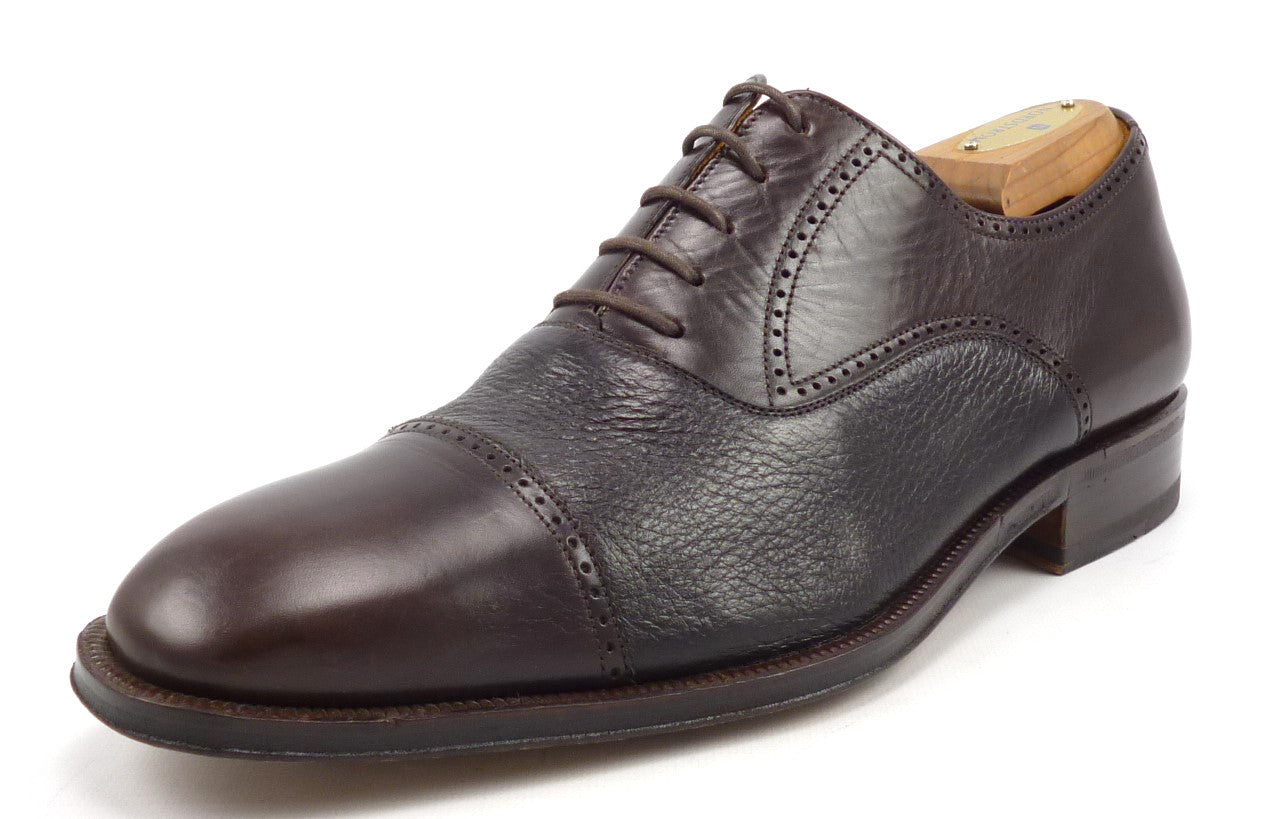 Magnanni Mens Shoes 8 Leather Cap Toe Oxfords 9249 Brown