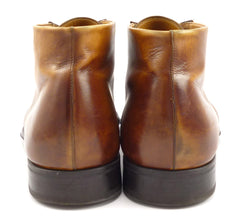Magnanni Hidalgo Leather Boots Size 10.5 Brown