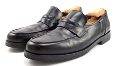 Mephisto Mens Shoes Size 13 US, (12.5 EUR) Leather Slip On Loafers Black