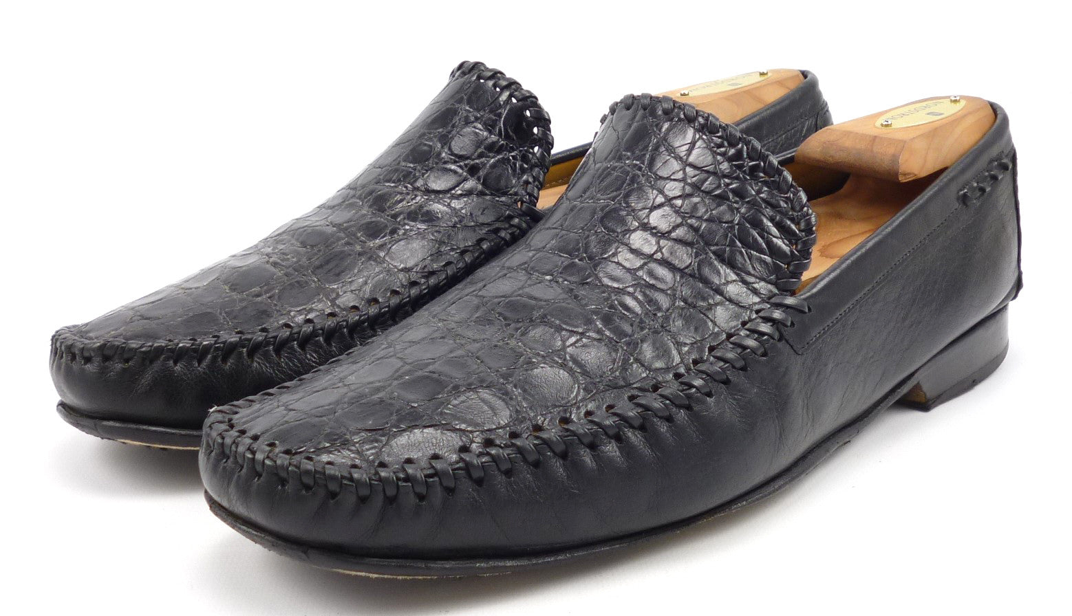 405c9618838fc Mezlan Mens Shoes 10.5 Comino Leather Crocodile Loafers ...
