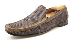 Mezlan Mens Shoes Size 11 US Marius Snakeskin Loafers Brown