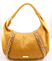 Michael Kors Leather Hobo Shoulder Bag Light Brown
