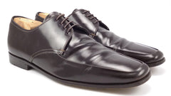 Prada Men's Shoes 7.5, 9 US Leather Lace Up Oxfords Dark Brown