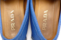 Prada Men's Driving Moccasins 2D2170 Size 6 US Blue