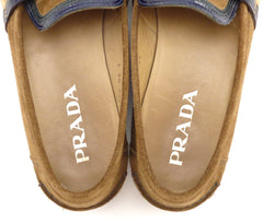 Prada Men's Suede Loafers Size 9.5 US Brown