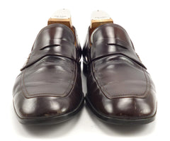 Prada Men's Shoes Size 7.5, 8.5 US Leather Strap Loafers Brown Pre-owned