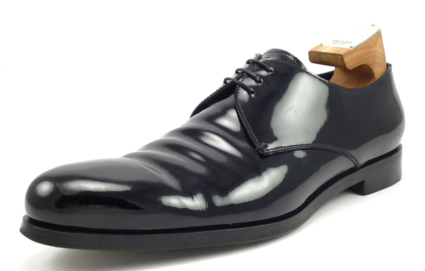 2d31468ebd0921 Prada Mens Shoes 11, 12 US Patent Leather Oxfords Black ...