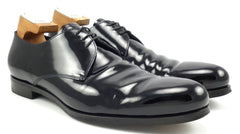 Prada Men's Shoes Size 11, 12 US Patent Leather Lace Up Oxfords Black
