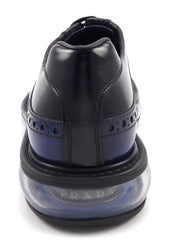 Prada New Mens Shoes 5, 6 US Levitate Removable Kilt Oxfords 2EE100 Black/Blue