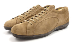 Prada Mens Shoes Size 8, 9 US Suede Lace Up Sneakers Brown