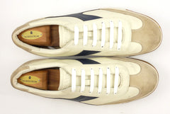 Prada Mens Shoes Size 11, 12 US Suede & Leather Sneakers White