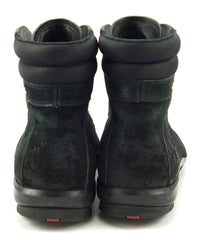 Prada Men's Size 7 US Suede Hiking Boots Black