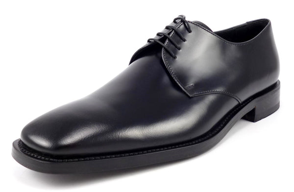 Prada Mens Shoes Size 10.5, US 11.5 Leather Oxfords DNC035 Black New