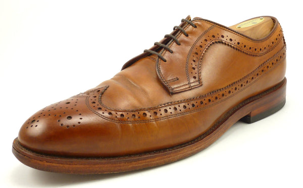 Ralph Lauren Men\u0027s Shoes 9.5 US Sanderson Goodyear Welt Leather Wingtips  Brown