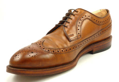 Ralph Lauren Men's Shoes 9.5 US Sanderson Goodyear Welt Leather Wingtips Brown