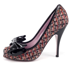 Valentino New Womens Shoes Size 39.5, US 9 High Heel Pumps Multicolored