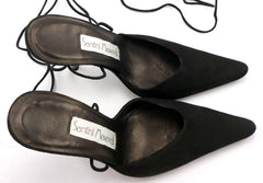 Santini Mavardi New Women's Shoes 36, 6 US Olivia Suede Ankle Strap Pumps Black