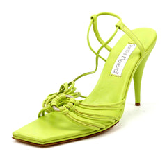 Santini Mavardi New Women's Shoes 40, 10 US Ringy Ankle Strap Sandals Lime Green