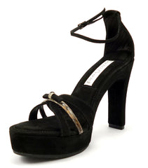 Santini Mavardi New Women's Shoes Size 10 US Lili Ankle Strap Sandal Pumps Black