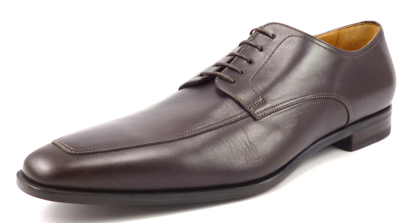 Santoni Mens Shoes Size 12 Apron Toe Oxfords 14156550 Brown New