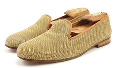 Stubbs & Wootton Men's Straw Slippers Size 8