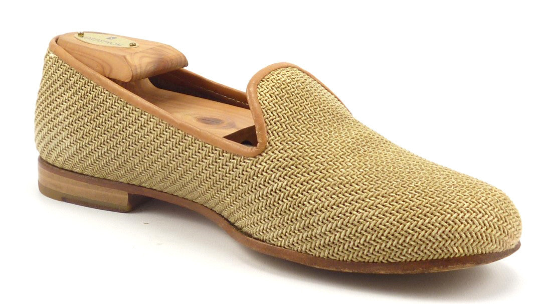 c667109016b Stubbs   Wootton Men s Shoes 8 US Woven Straw Slippers – Distinctive ...