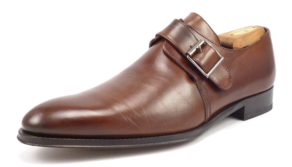To Boot New York Mens Shoes Size 9 US Leather Monk Strap Loafers Brown Pre-owned