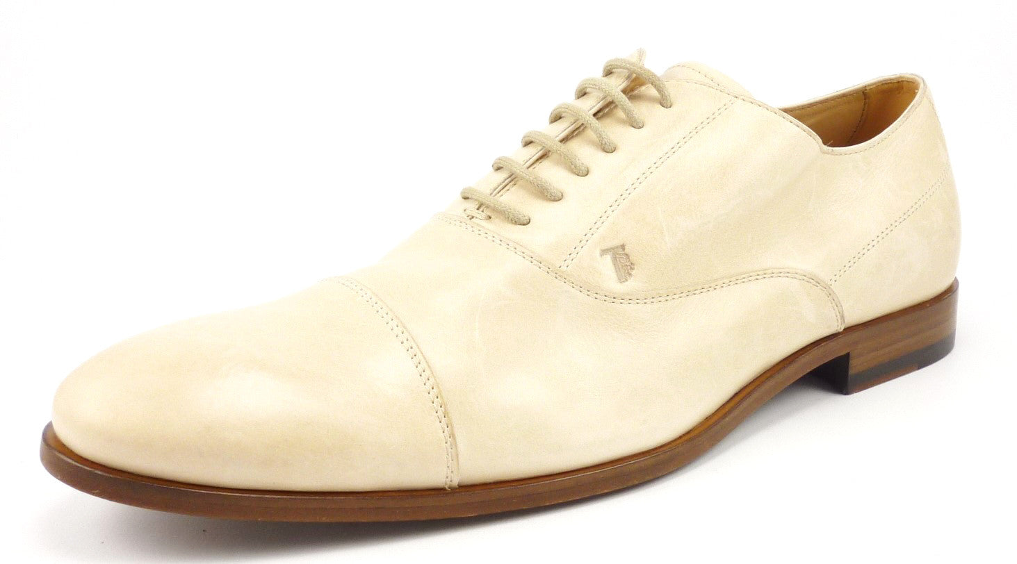 2a1721039c714 Tod's Mens Shoes Size 10, US 11 Leather Captoe Oxfords Tan New