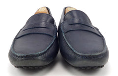 Tod's Men's Leather Loafers Size 6.5 US Blue