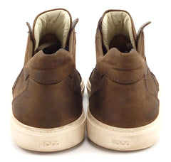 Tod's Men's Shoes Size 7.5, 8.5 US Nubuck Leather Lace Up Sneakers Brown