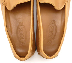 Tod's Men's Leather Loafers Size 12 US Brown