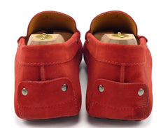 Tod's Men's Suede Drivers Size 9 US Red