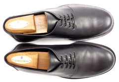 Versace Mens Shoes 41.5, 8.5 US Leather Plain Toe Oxfords 1179 Black