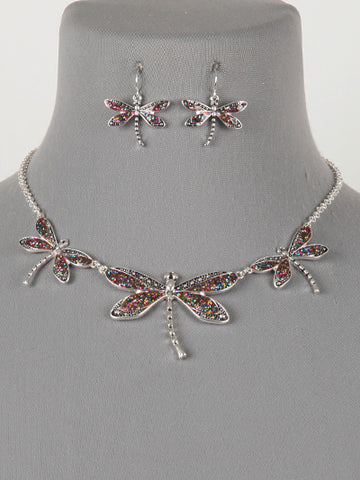 Dragonfly Necklace Set