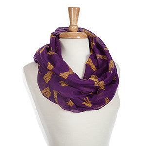 Purple and Yellow Tiger Infinity Scarf