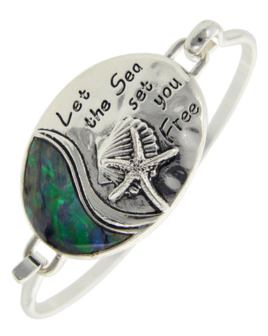 Abalone Let the Sea Set You Free Bracelet