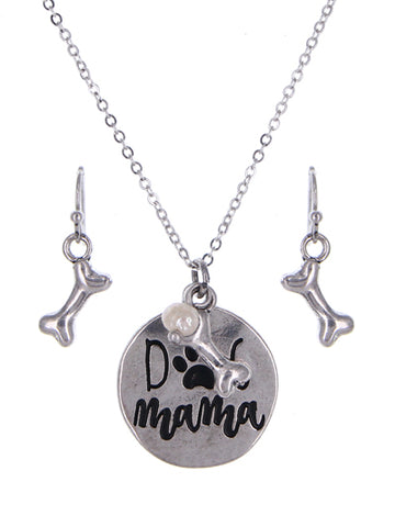 Dog Mama Necklace Set