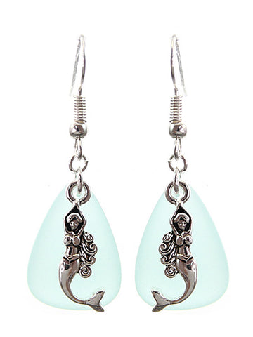 Sea Glass Mermaid Earrings