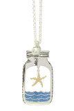 Starfish in a Bottle Necklace