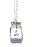 Anchor in a Bottle Necklace