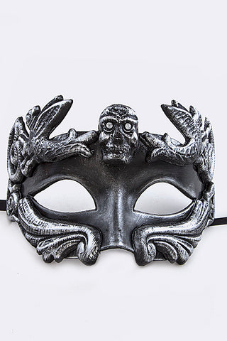 Men's Black and Silver Mardi Gras Mask