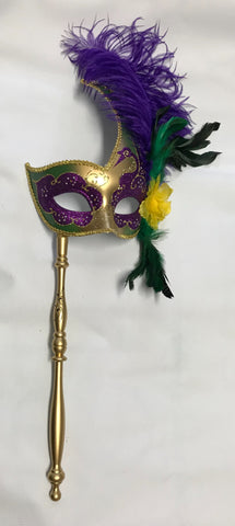 Mardi Gras Mask on Stick